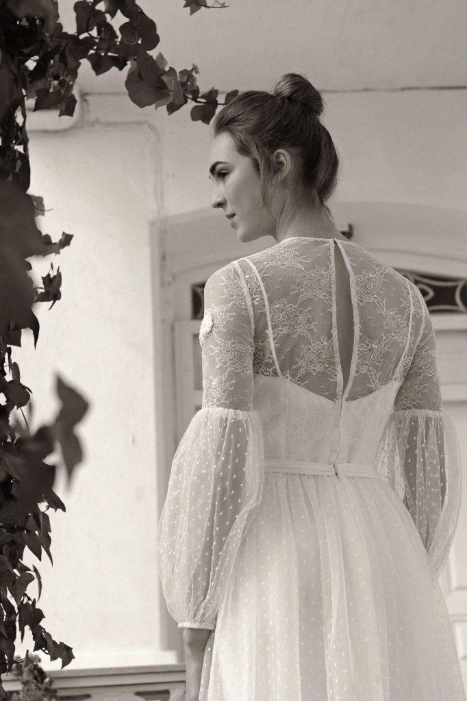 Vestido de novia diseñado por Luis Alonso en su taller de Santander