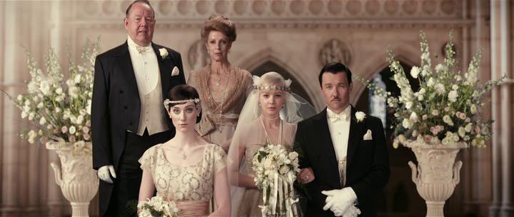 Fotograma de la boda en la película El Gran Gatsby de Baz Luhrmann
