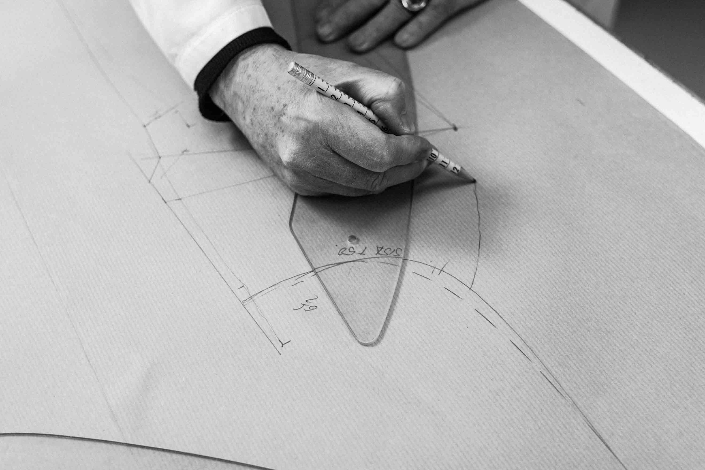 Creación de patron para diseño de traje de novia realizado por Luis Alonso